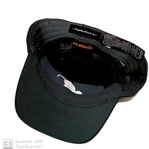 Nike Golf Cap Black Bellagio Logo Flexfit Size S/M
